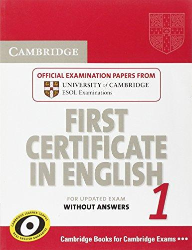Cambridge First Certificate in English 1 for Updated Exam Student's Book without answers - Studies Applications Center E-shop