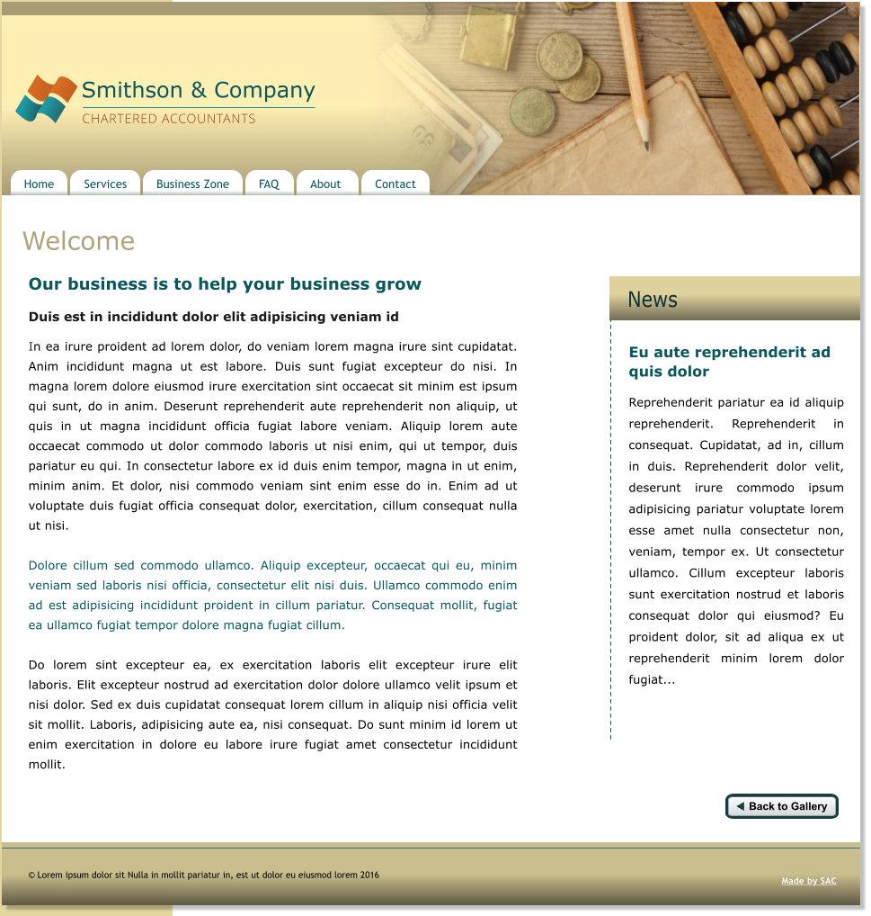 Ενοικίαση Στατικής Ιστοσελίδας από 30€/6 μήνες - Studies Applications Center (SAC)